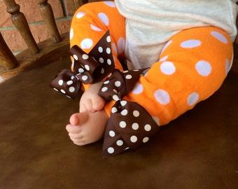 Baby girl leg warmers - thanksgiving leg warmers - fall leg warmers
