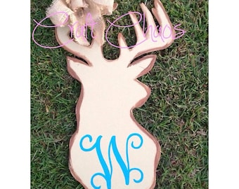 Personalized Deer Head Door Hanger