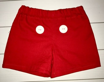 Mickey Mouse Clubhouse Smash Cake Shorts with Buttons