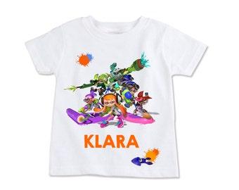Splatoon (size options) Digital Birthday Party Iron on Transfer T-shirt DIY Printable