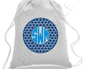 Fleur de Lis Drawstring Bag, Fleur de Lis Bag, Fleur de Lis Gifts, Drawstring Backpack, Drawstring Bag