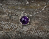 Viking Amethyst Necklace from Gotland (sterling silver) viking woman jewelry