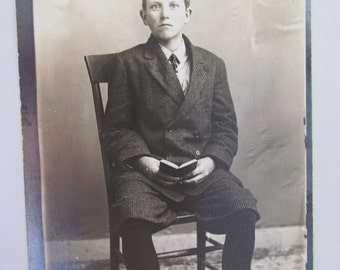 Vintage Photo Postcard of a Young Man