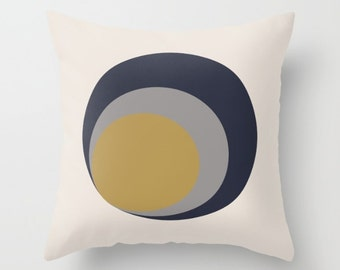 Decorative Throw Pillow Cover - Different sizes, With, Without, Inserts, Indoors, Outdoors, Boho, Hippie, Flowers, Blue, Yellow, Grey, Beige