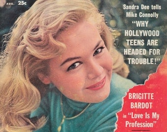 Screen Stories Magazine Screen Stories Brigitte Bardot AUGUST 1959