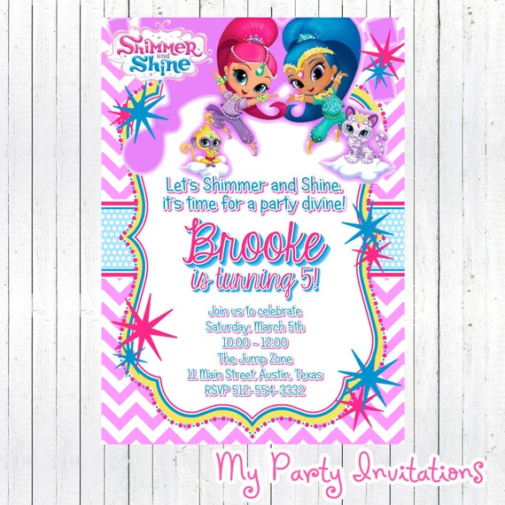 Shimmer and Shine Birthday Invitation DIY by ...