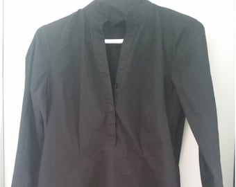black cotton tunic sm
