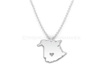 New Brunswick Necklace - Canada necklace, I heart New Brunswick