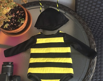 Baby Bumble Bee Costume, Toddler Bumble Bee Birthday Party Costume,  Honey Bee Baby Costume size 9 months to 24 months