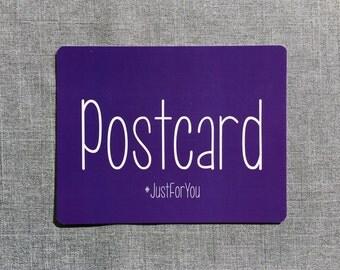 Postcard #JustForyou // Single Postcard // PC126