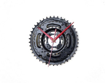 Large Wall Clock, Bicycle Clock, Bicycle Sprockets Clock, Unique Wall Clock, Bike Clock, Unique Clock, Industrial Clock, Steampunk Clock
