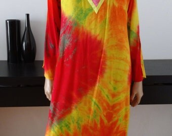 robe tye and die psyché / hippie / seapunk / taille 38/40 / size 10/12 uk