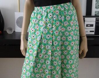 Jupe vintage marguerites multicolores taille 42/Vtg Skirt/falda/rock/gonna/saia size 14 uk / us 10