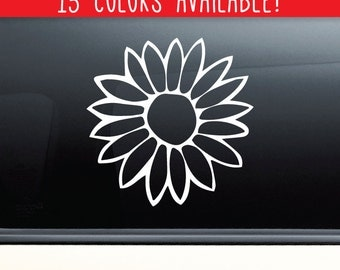 Flower Vinyl Decal Laptop Car Truck Bumper Window Sticker