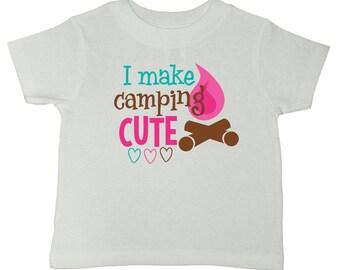 Girls Camping Shirt - Camping Gear - Camping Party - Camping With Kids - Summer Camp - Camping Birthday - Camping Tshirt - Camp Outfit