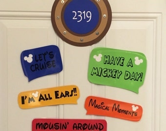 Let's Cruise Disney Cruise Stateroom Door Magnets