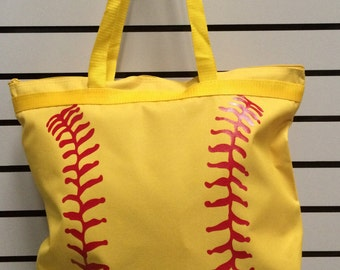 Optic Yellow Fastpitch Zipper Tote