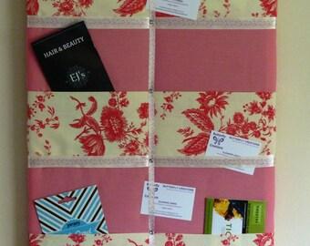 Memo board, memo holder, fabric notice board, office organiser.