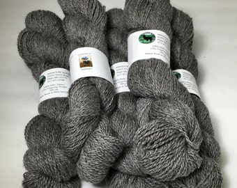 Alpaca Yarn, Finger Weight, Medium Silver Grey