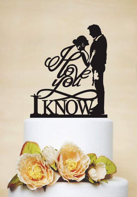 Star wars wedding cake topper i love you i know cake topper like this item junglespirit Gallery