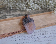 SPIRIT QUARTZ pendant, amethyst necklace, cactus ametrine pendant, statement pendant, handmade jewelry electroformed electroplated galvanize