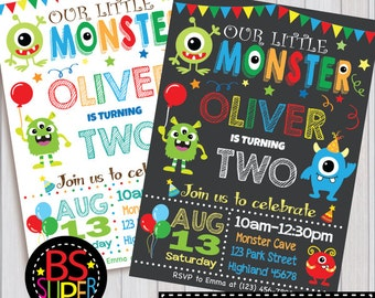 Monster Birthday Invitation , Little Monster Birthday Party , 1st Birthday Monster Invitation, Monster party invite