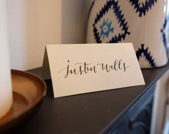 Wedding Place Cards - Hand Lettered with Two Names