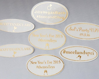 Custom Bachelorette Tattoos, Wedding Party Favors, Custom Gold Bachelorette Temporary Tattoos, Bridal Party Favors