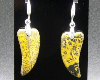 Chohua Jasper Sterling Silver Hook Earrings.