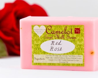 Camelot Goat Milk Soap - Red Rose (4oz)