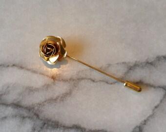 Vintage Gold Flower Stick Pin