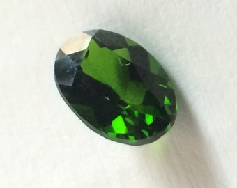 Russian Chrome Diopside 7x5mm Oval Loose Gemstone