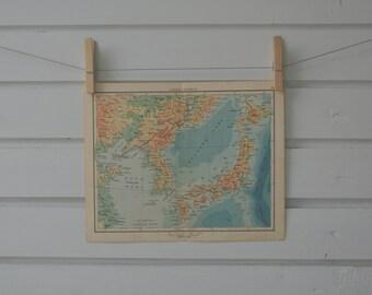 1956 Vintage Japan & Korea Map