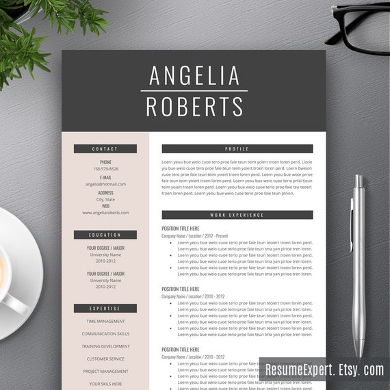 creative resume template cover letter    cv by resumeexpert