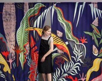 Towards Vesuvius Curtain / Fabric