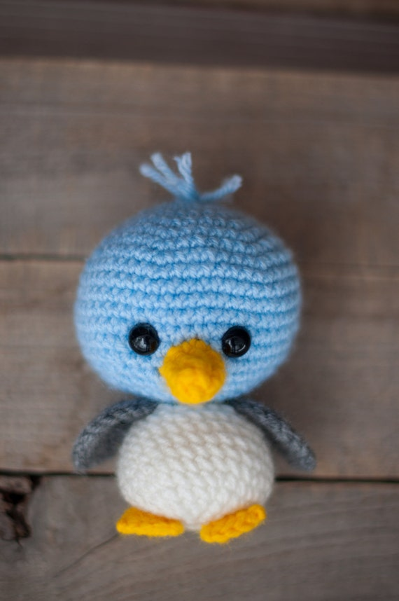 Amigurumi Crochet Bird Patterns : PATTERN: Crochet bird pattern amigurumi by TheresasCrochetShop