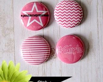 "Badge 1 ""- Girly"