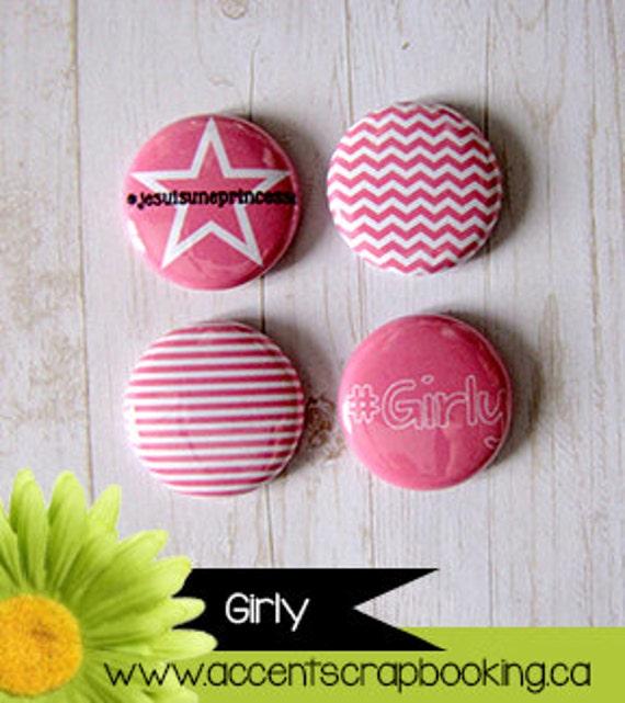 "Badge 1"" - Girly"