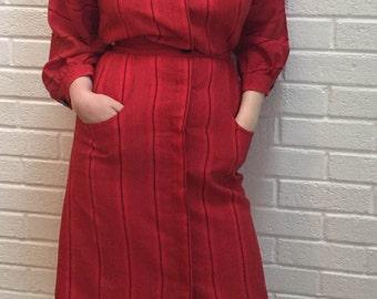 Vintage 1970's Dress.Jersey Masters label. UK size 8