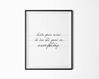 See good in everything, Motivational poster, Printable poster, Wall art, Instant download, Printable quote, Scandinavian poster, Typography
