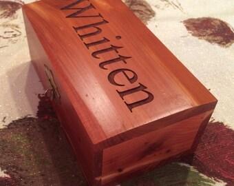 Cedar Box - personalized