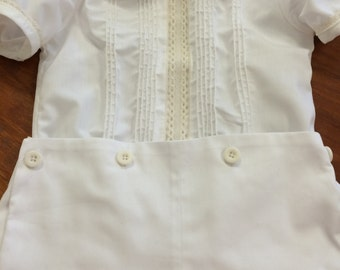 Button-On Pants and Fancy Shirt for Boys