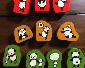 Kodomo No Kao- Panda stamp