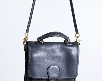 Vintage Black Coach Station Bag