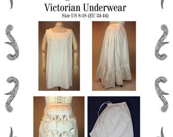 Victorian Underwear Sewing Pattern #1115 Size US 8-30 (EU 34-56) Pdf Download !!!NEW!!!