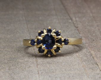Estate, 14K Yellow Gold Sapphire Ring