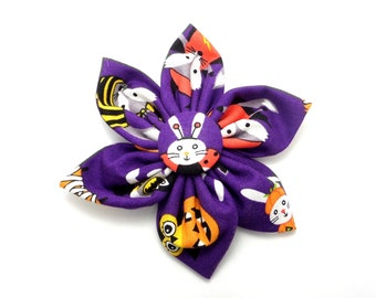 Halloween animals retractable badge reel - flower badge reel - trick or treat badge clip - Halloween badge reel - nursing badge reel