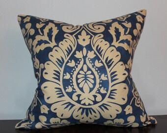 "ONLY 4- 20""x20"" Blue Beige Pillow Case"