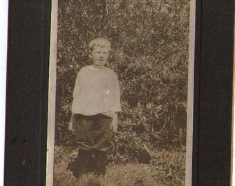 Vintage Photograph of Boy, Found Photo, Vernacular Photo