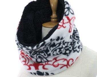 Infinity scarf circle scarf winter scarfs neck warmer cowl birthday gifts women's accessory fleece Neck warmer